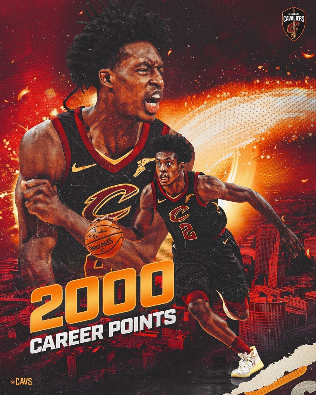 Cleveland Cavaliers On Instagram 2k On His 21st Collinyoungbull Joins Kingjames And Kyrieirving As The Only Ca In 2020 Cleveland Cavaliers Cavalier Nba Playoffs