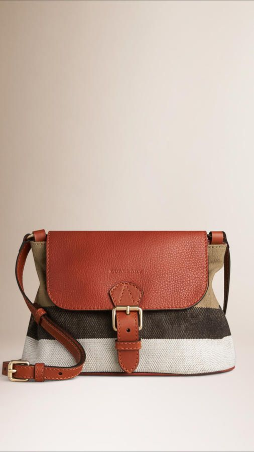 c9b71d5221ac Burberry Small Canvas Check And Leather Crossbody Bag