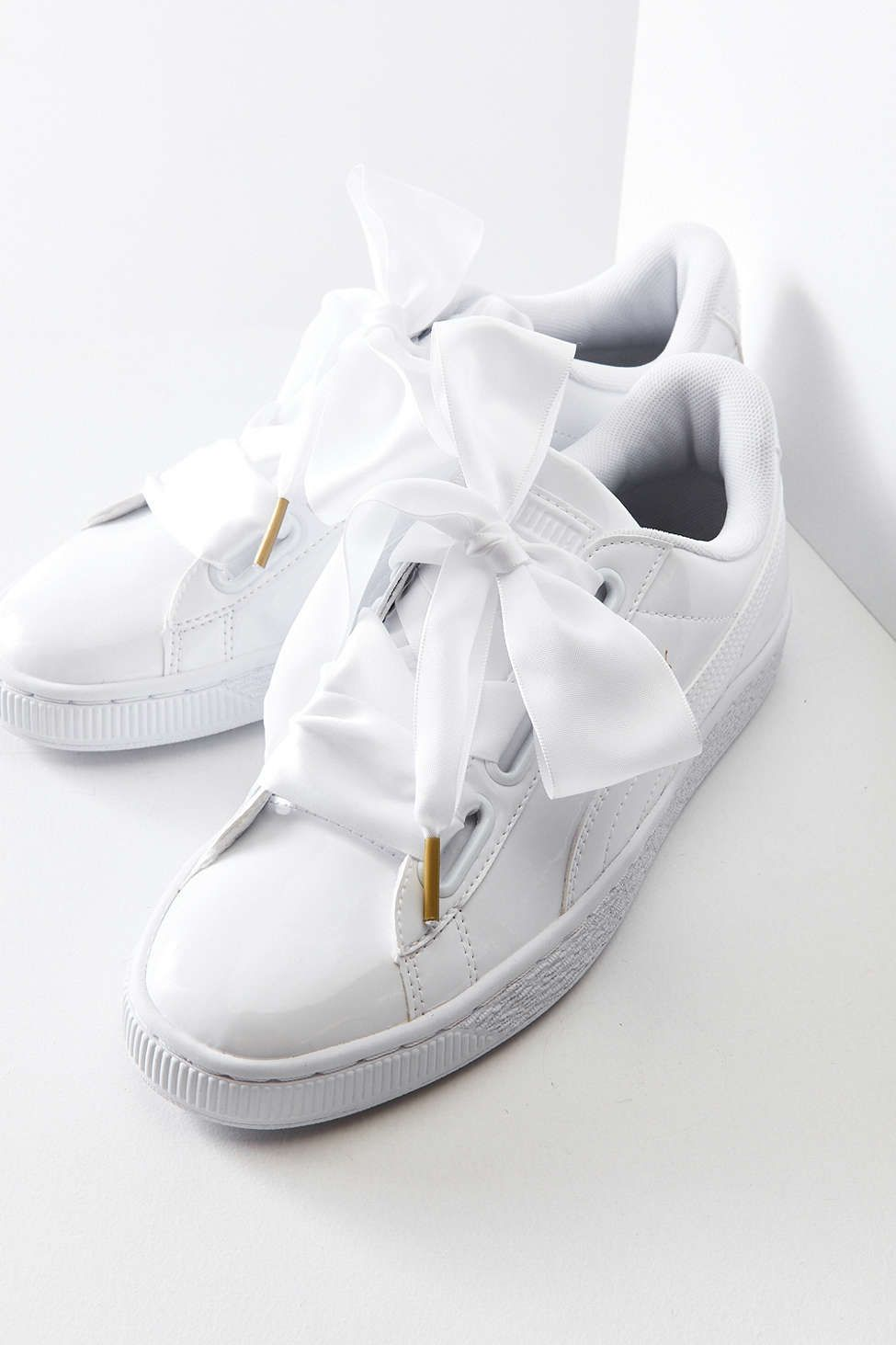 puma basket heart patent leather sneaker shoes zapatos rh pinterest cl