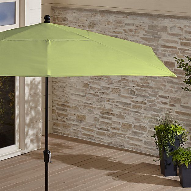 Rectangular Sunbrella Kiwi Patio Umbrella With Black Frame Rectangular Patio Umbrella Outdoor Patio Umbrellas Patio Umbrella