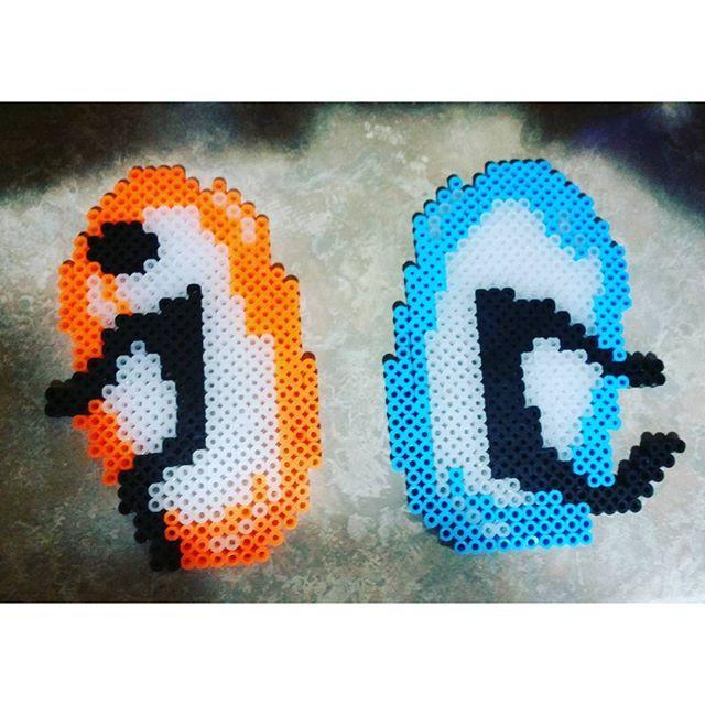 Portal Perler Beads By Kaopotato24 Perler Bead Art Pixel Art