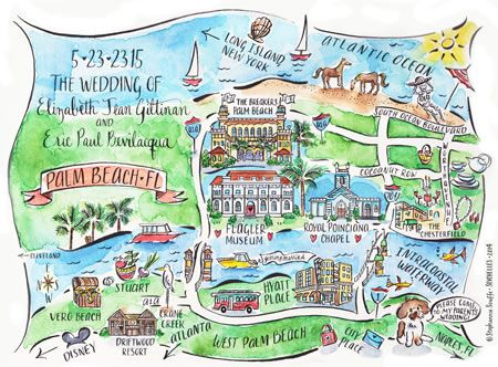 Watercolor Florida Map.Watercolor Illustrated Maps From Couture Maps By Stephannie Souffe