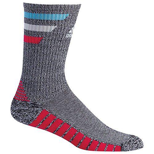 f208b8efd Adidas 2017 Single Arch Compression 3Stripes Mens Golf Crew Sports Socks  Pack of 1 Black HeatherBold Pink 6510 UK * Want additional info?