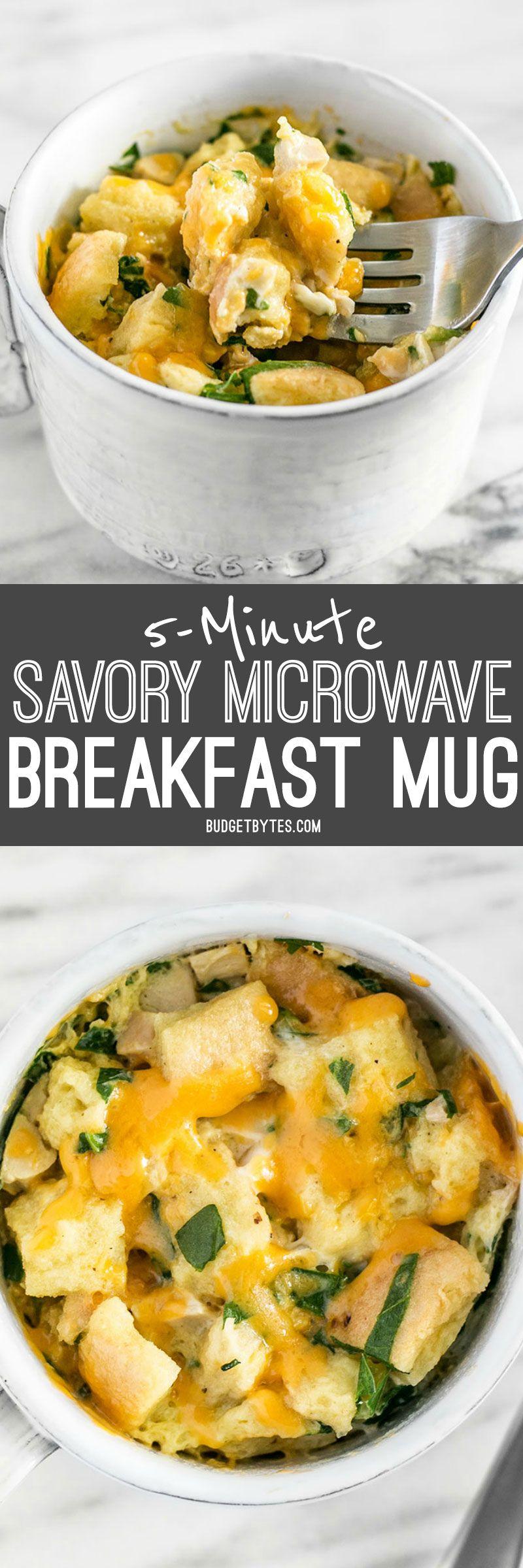 5 Minute Savory Microwave Breakfast Mug Recipe