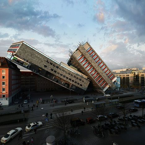 Manipulated Photography By Victor Enrich Of A Munich Hotel - City portraits surreal architecture photos by victor enrich