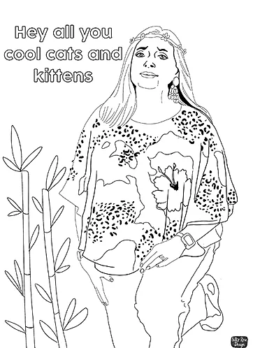 Carole Baskin Tiger King Colouring Sheet Free Download Rose Design Free Coloring Sheets Freelance Illustrator