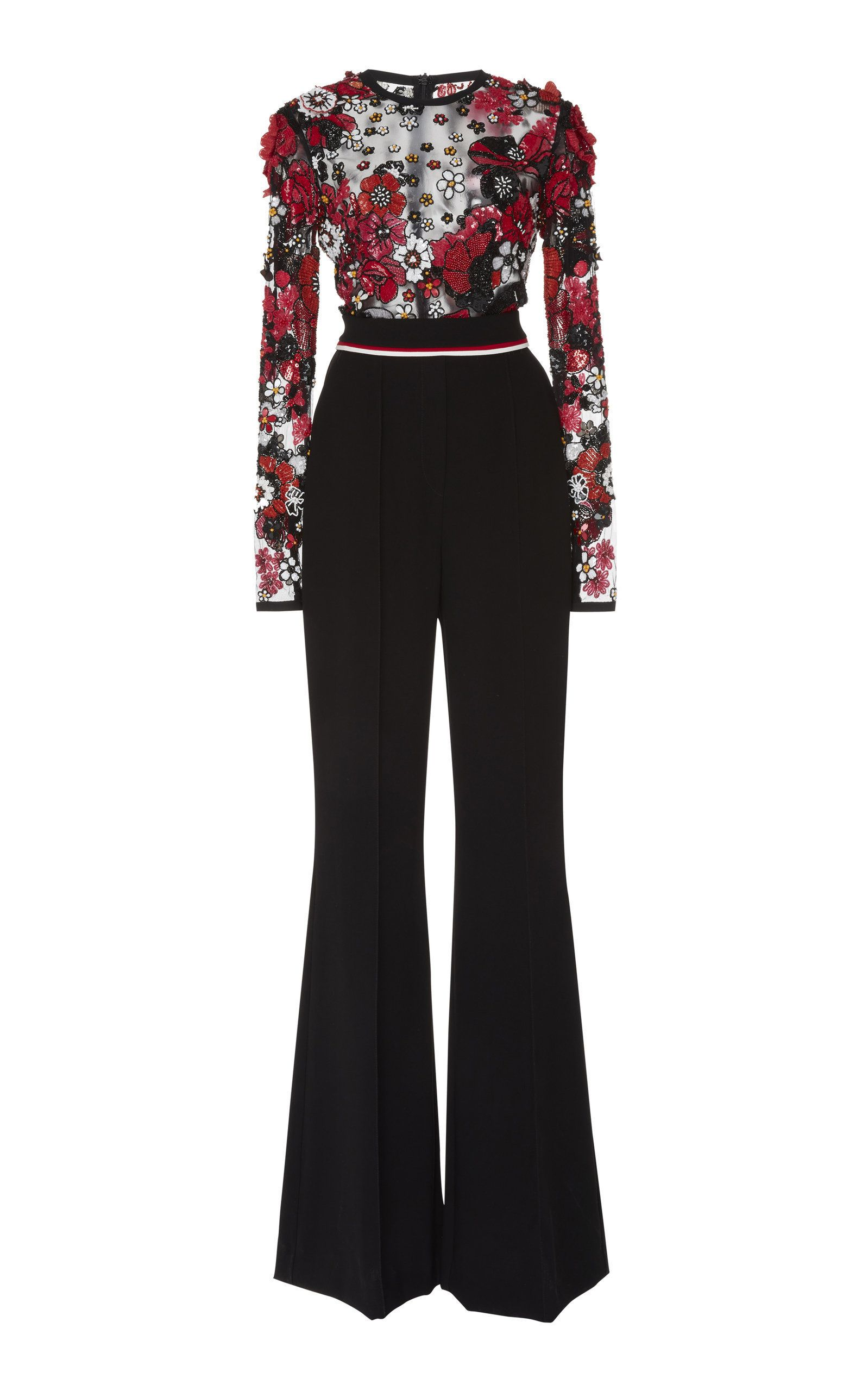 01cfba246a5 Embroidered Wide-Leg Jumpsuit in 2019