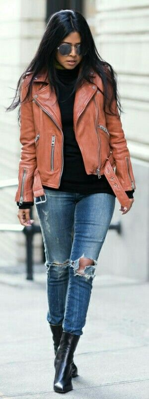Wyatt Leather Jacket / Walk In Wonderland