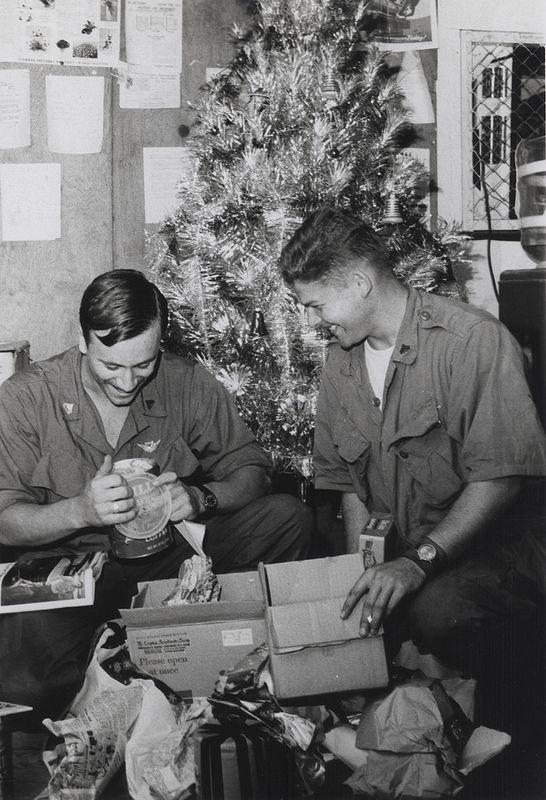 marines open christmas presents phu bai vietnam circa. Black Bedroom Furniture Sets. Home Design Ideas