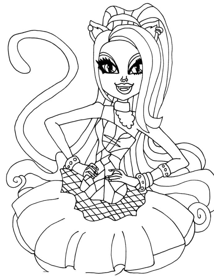 Monster High Catty Noir Colouring Pages