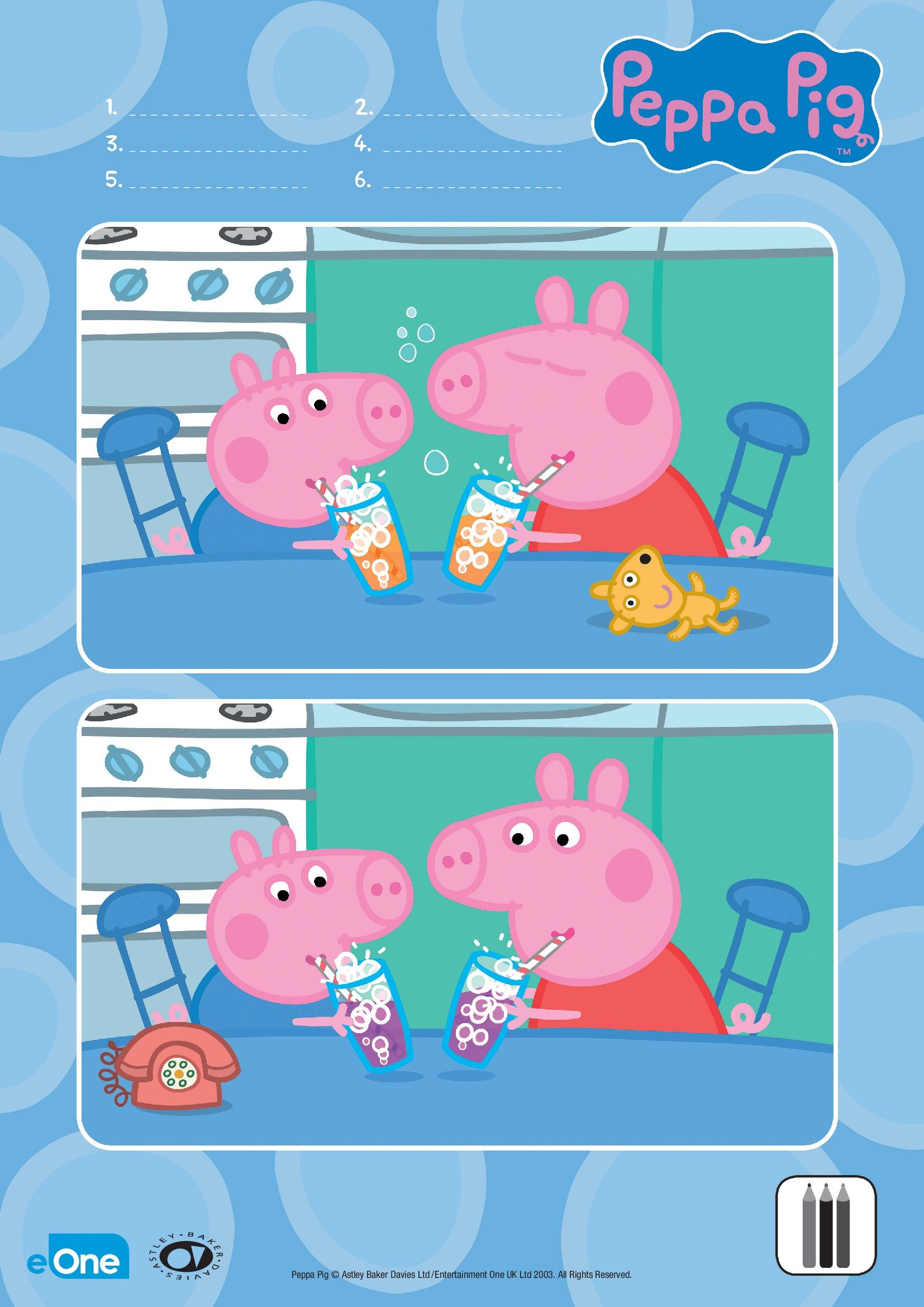 Oink Oink Your Little One Can Help Peppa And Her Brother George Spot The Difference Between The Pig Crafts Fun Worksheets For Kids Toddler Learning Activities [ 2339 x 1654 Pixel ]