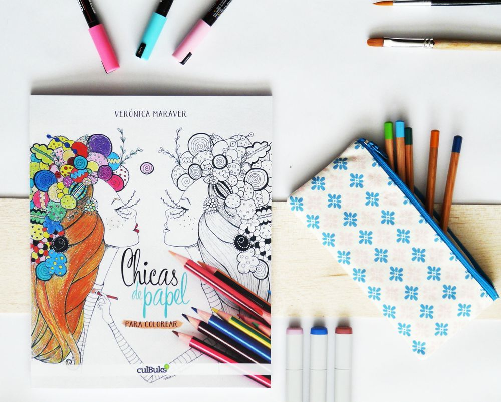 The product RESERVA Libro para colorear: Chicas de papel is sold by ...