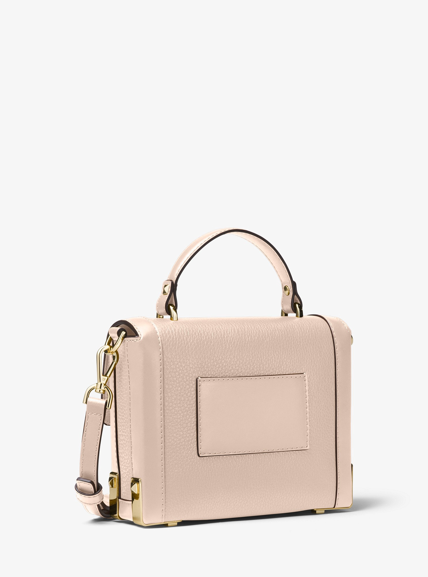 ff1fdc1ba94db Michael Kors Jayne Small Pebbled Leather Trunk Bag - Soft Pink