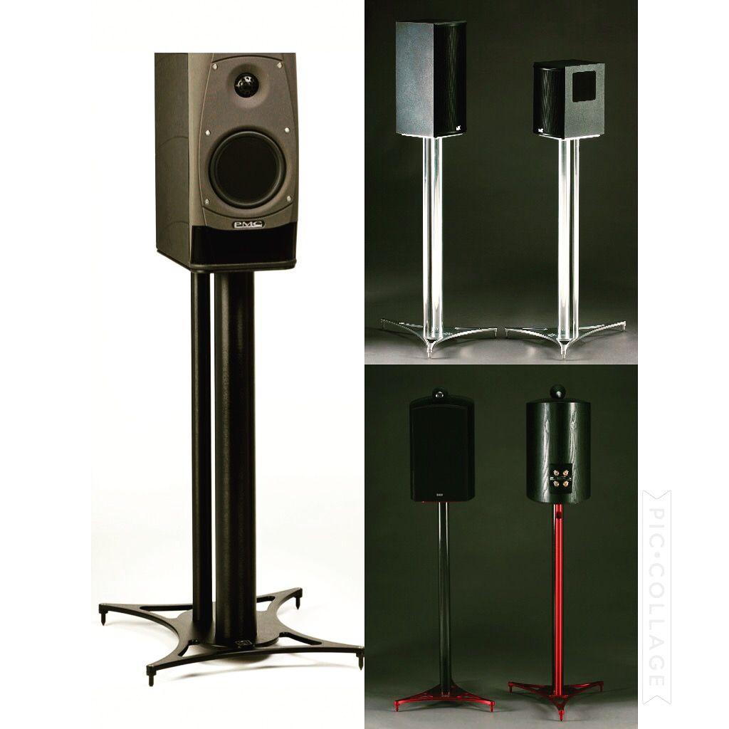 pulse speaker stands were designed for medium to large bookshelf