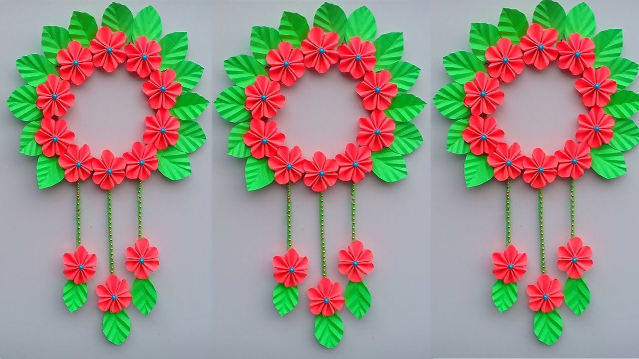 Paper Craft Wall Hanging Craft Ideas Room Decoration Diy Art