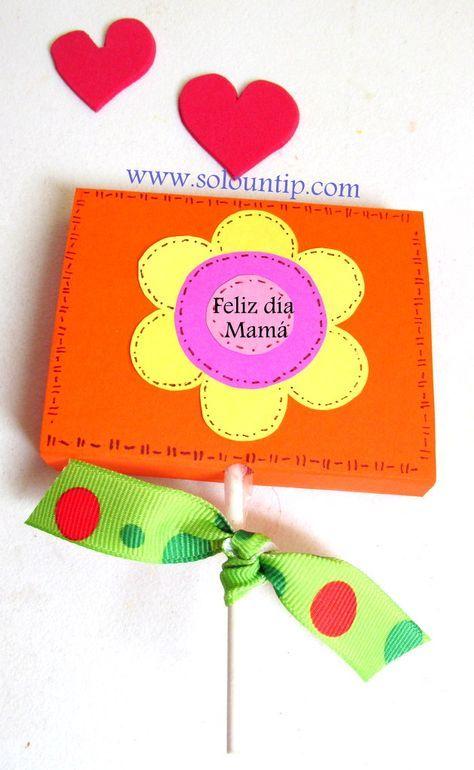 Manualidades Faciles Para Hacer Con Ninos En El Dia De La Madre Diy Paso A Paso Homemade Teacher Gifts Homemade Gifts For Dad Homemade Gifts