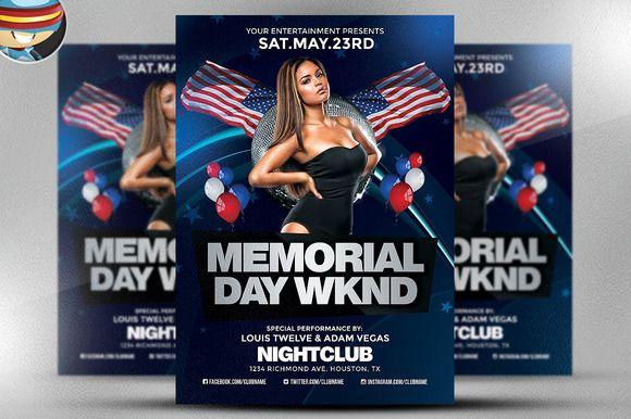 memorial day weekend flyer 2 by flyerheroes on creativework247
