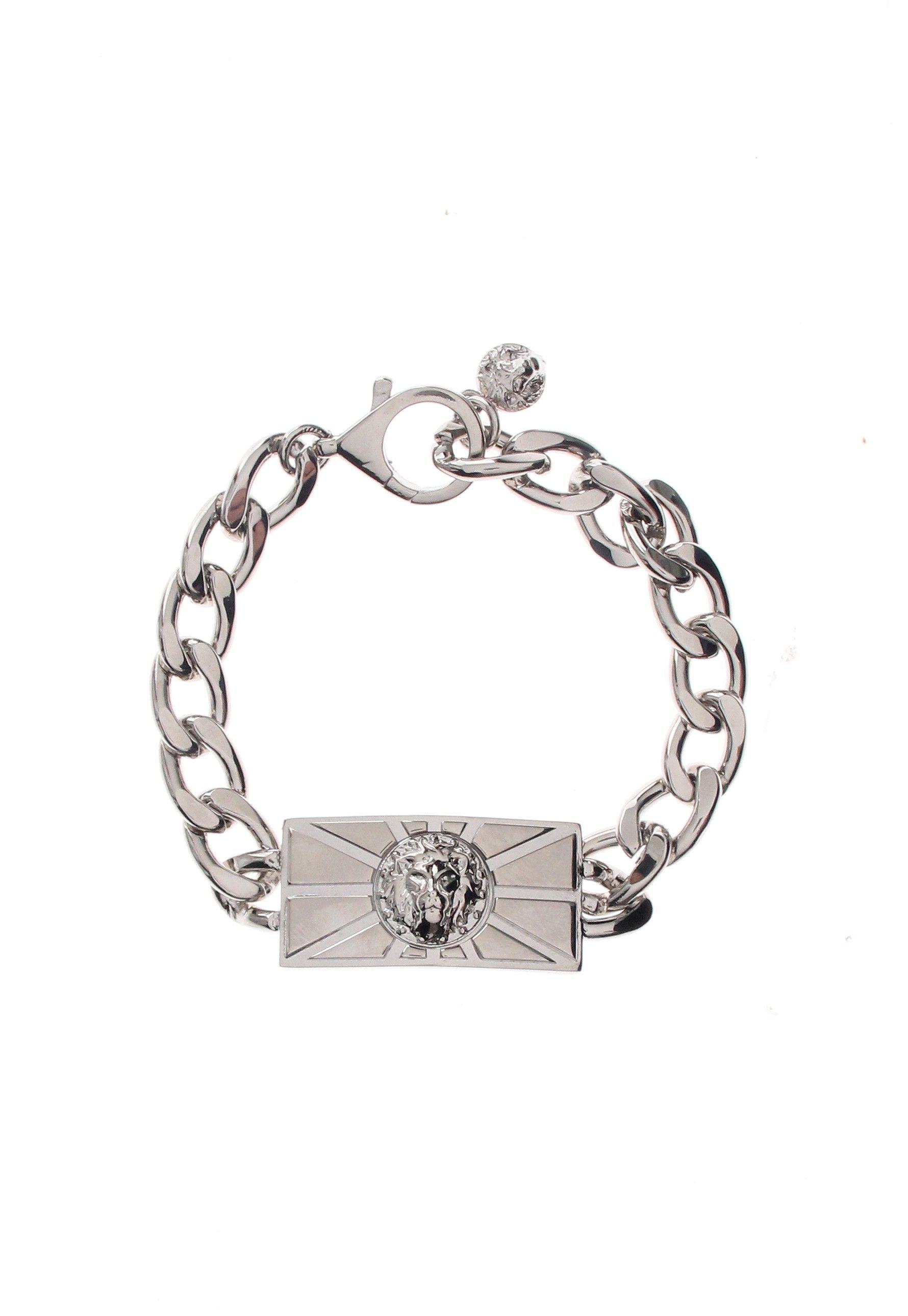 Versus versace lion head sun bracelet in silver sun rays project