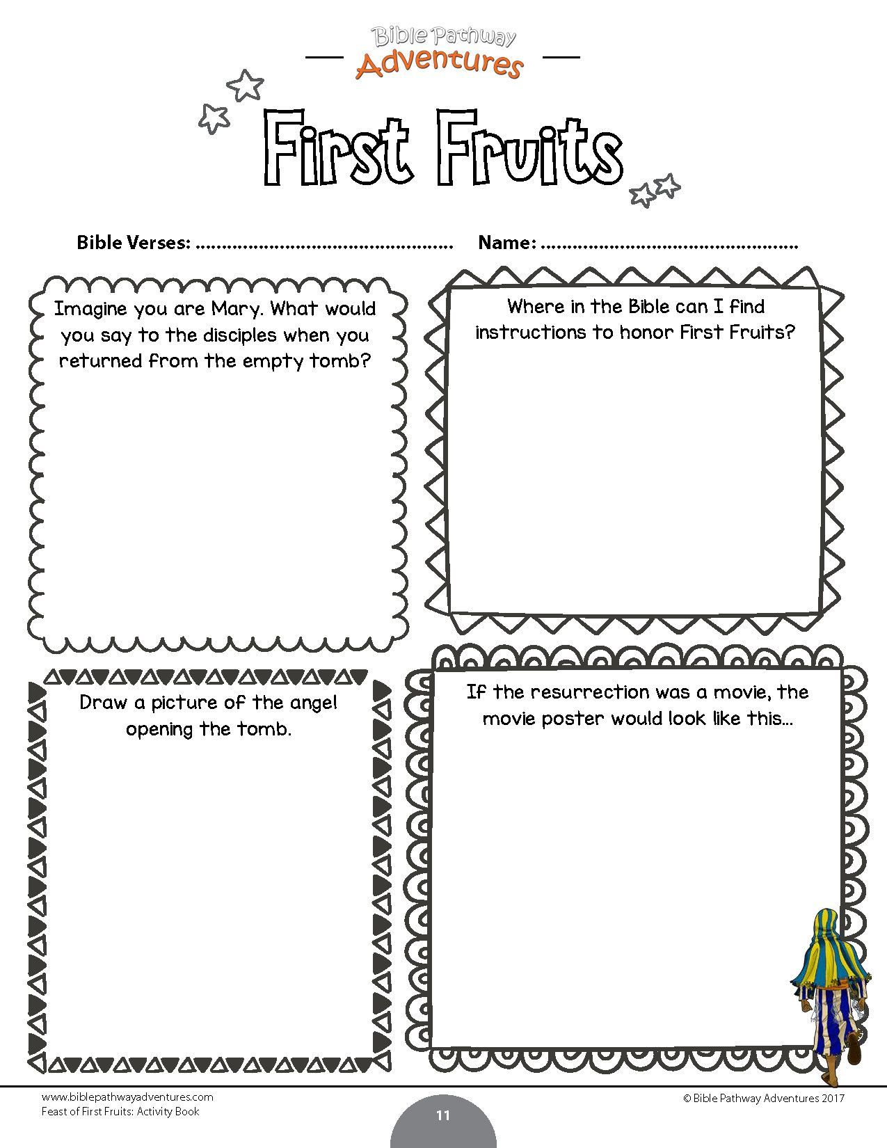 Official Fruit Of The Spirit Worksheets