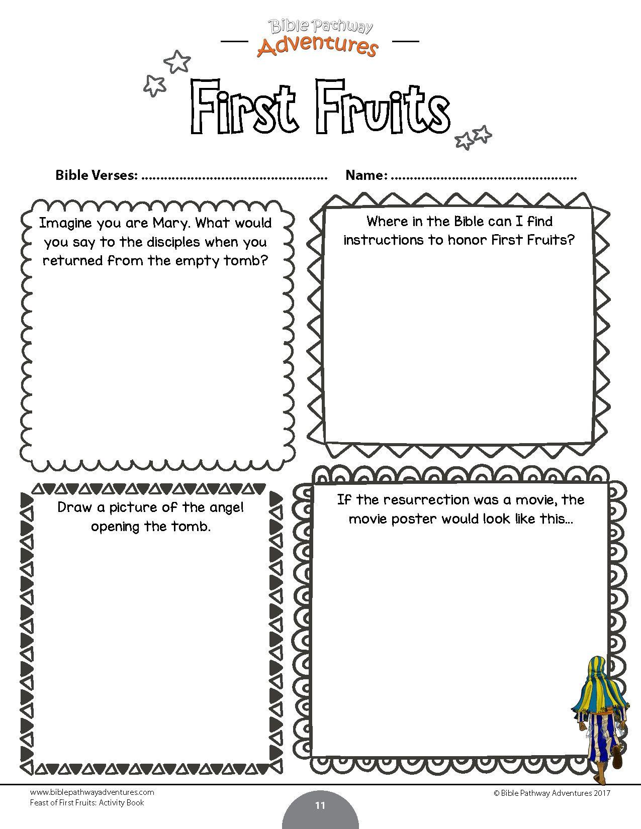 Official Fruit Of The Spirit Worksheets