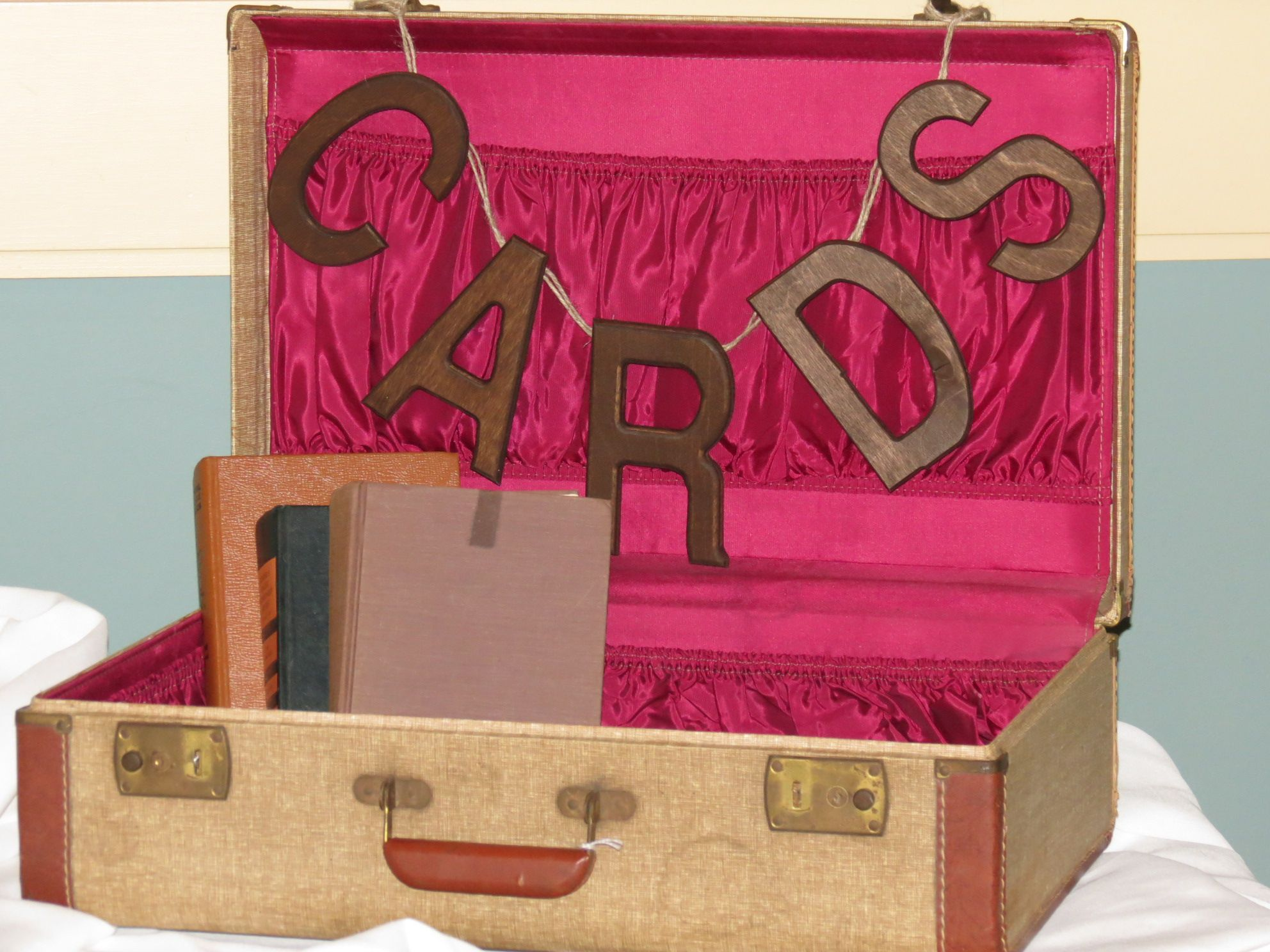 Card Box Found Suitcase In Antique Store Stained Letters From