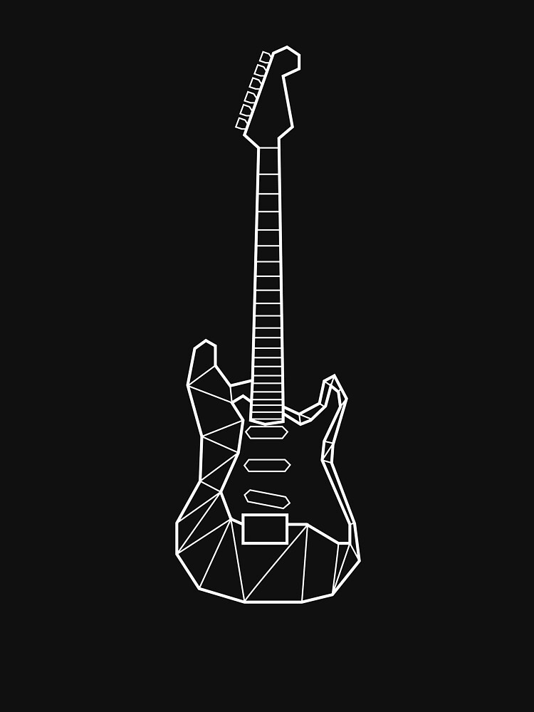 Polygon Electric Guitar Design Essential T Shirt By Gerald Waters In 2021 Electric Guitar Design Guitar Design Electric Guitar Art