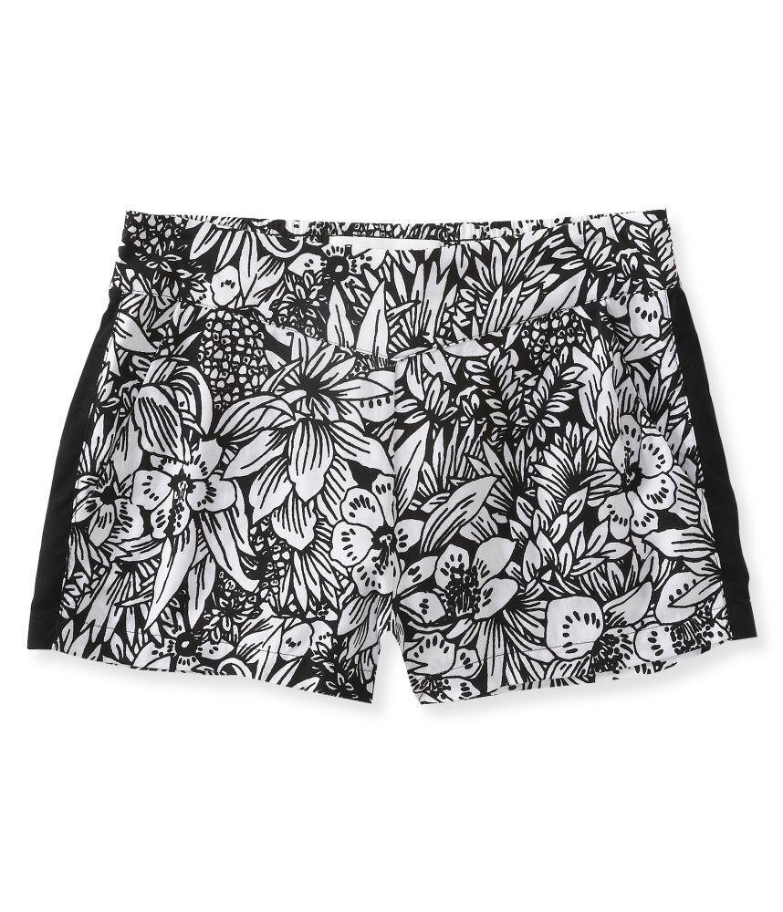 Aeropostale Womens Embroidered Trim Casual Mini Shorts