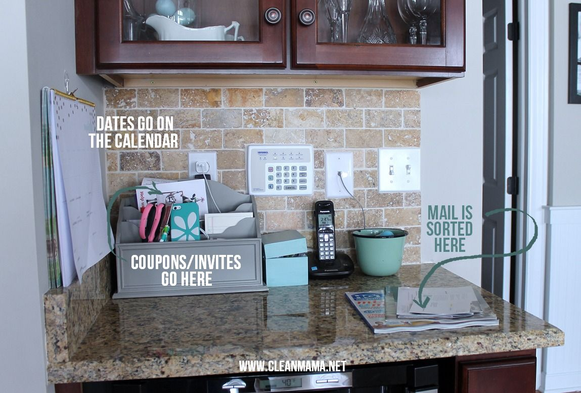 The Secret To Keeping Mail Off The Counters Countertop