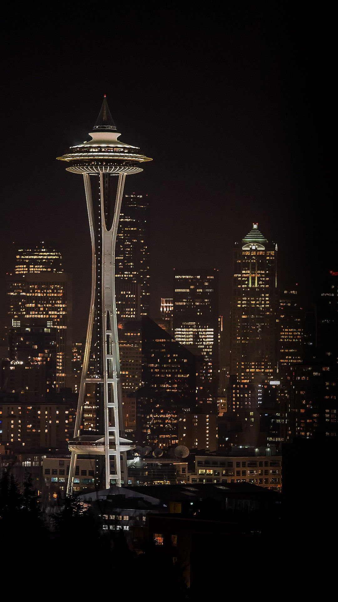 Seattle Space Needle Night City Skyline Hd Wallpaper Check More At Https Phonewallp Com Seattle Space Needle Night C Seattle Wallpaper Seattle City Wallpaper