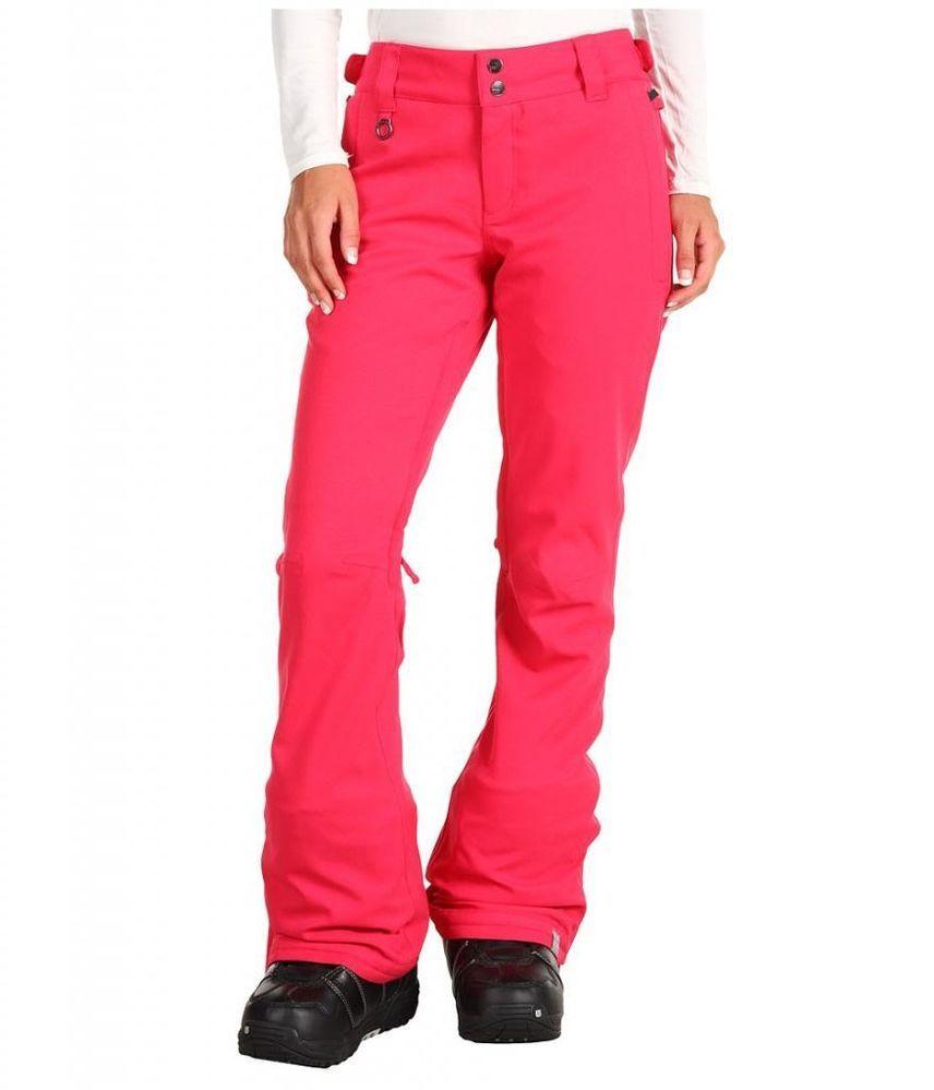 2e5d695de23eb Roxy Canyon Womens Snowboard Snow Ski Pant Raspberry DC Pink Large  Roxy  89.99