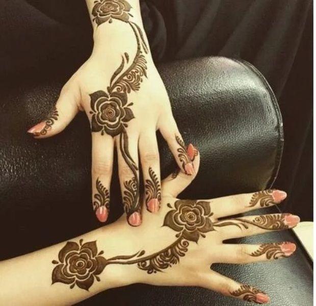 Rose Flower Eid Henna For Hands Rose Mehndi Designs Unique Mehndi Designs Latest Mehndi Designs