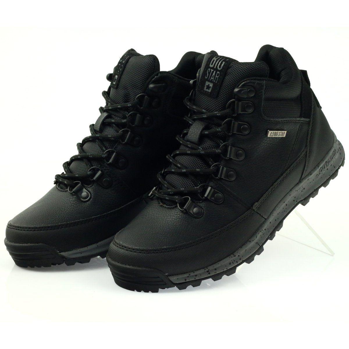 Trekkingi Sportowe Czarne Big Star 274636 Hiking Boots Shoes Boots