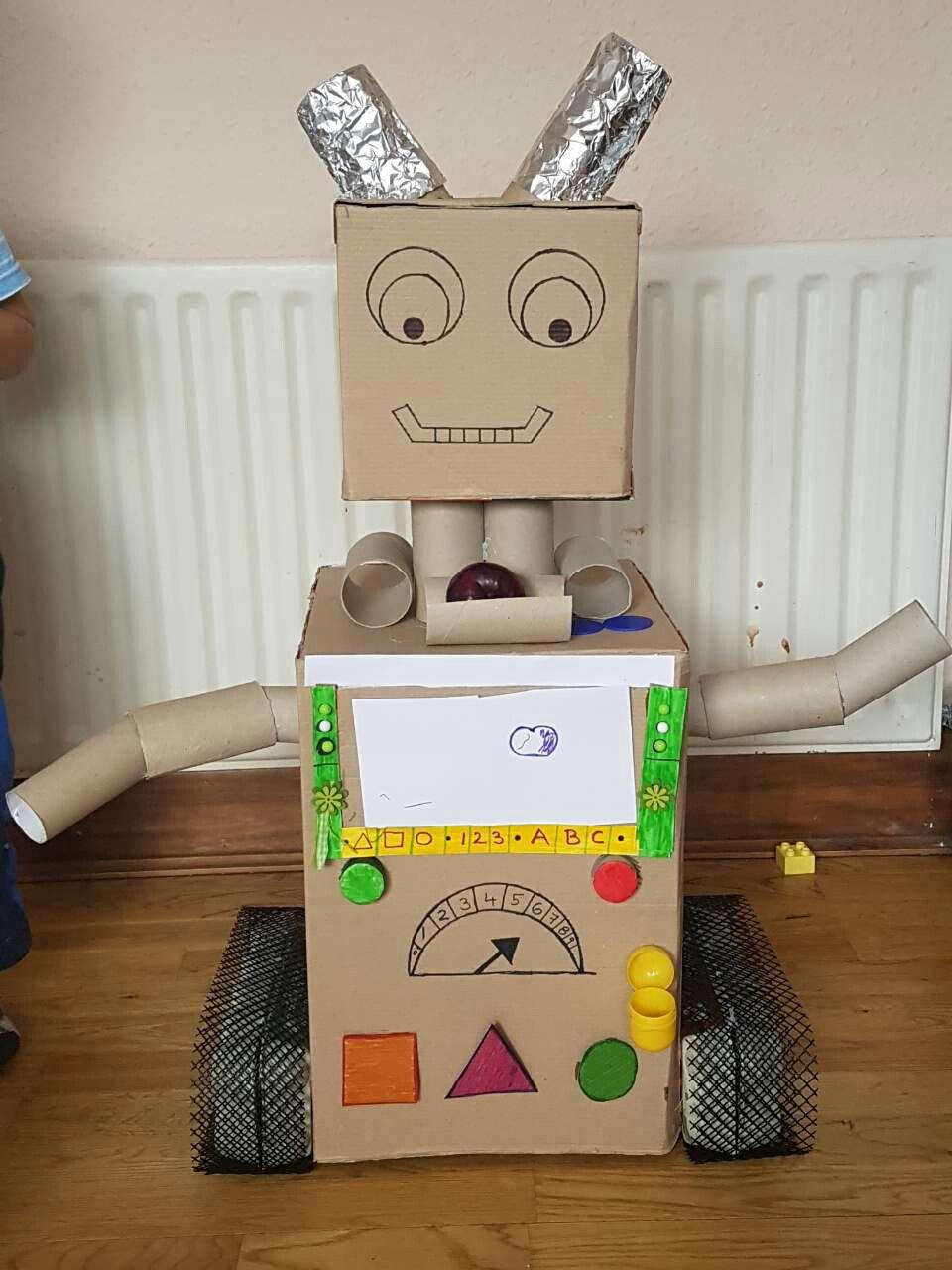 carton box robot for kids carton box robot box robot. Black Bedroom Furniture Sets. Home Design Ideas