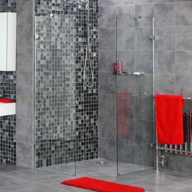 Carrelage douche italienne - idées décoration moderne