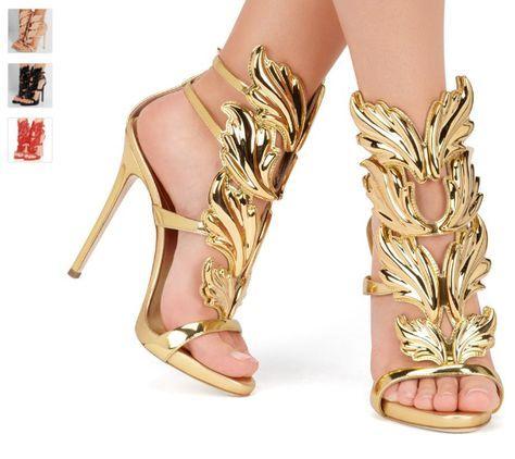 New Arrival Women Open Toe Sandals Gold Leaf Sandal Ankle Strap Gladiator  Sandals Summer Shoes Woman Sandalias Ladies Shoes 665d22b0350f
