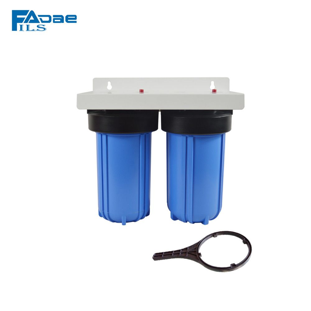 2 Stage Pre Filtration 10 Big Blue Water Filter With 1inch Brass Insert Attached One Plastic Wrench Blue Water 10 Things Water Filtration System