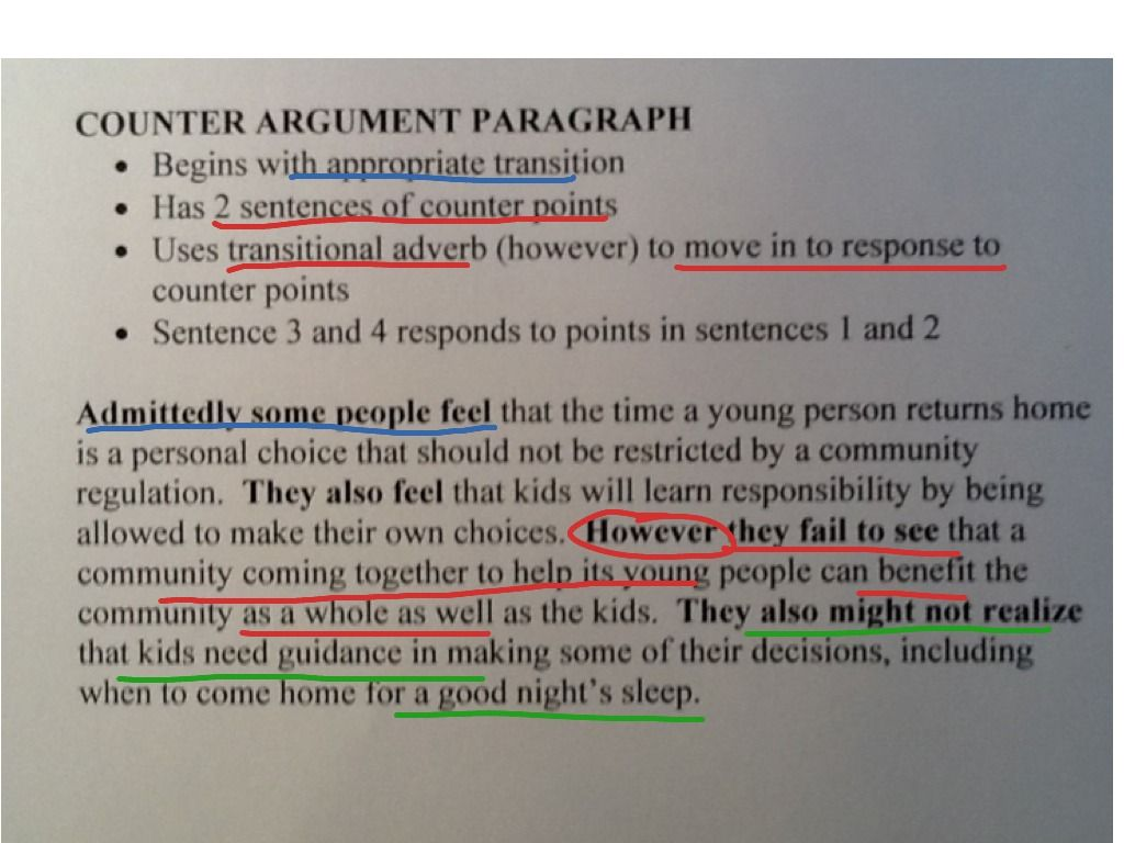 example of argumentative essay