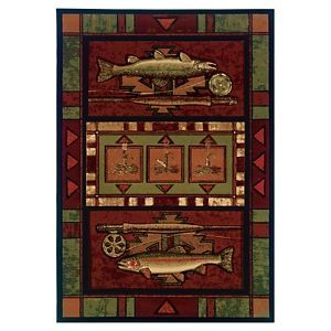 Wildlife Themed Area Rugs Rainbow Trout Products