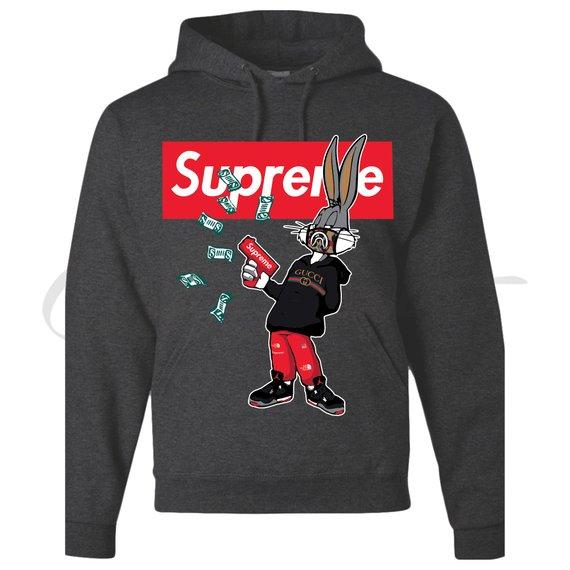 d96c885a97 Bugs Bunny Hypebeast Supreme Parody Hoodie Sweatshirt by OFF-COAST ...