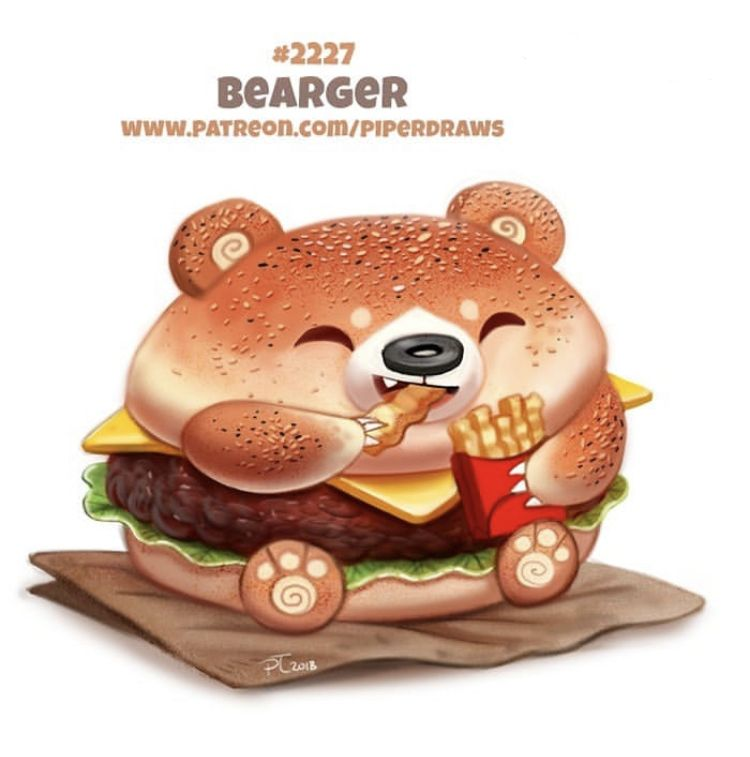 Pin By Tiffany Shurbet On Cartoon Critters Cute Food Drawings