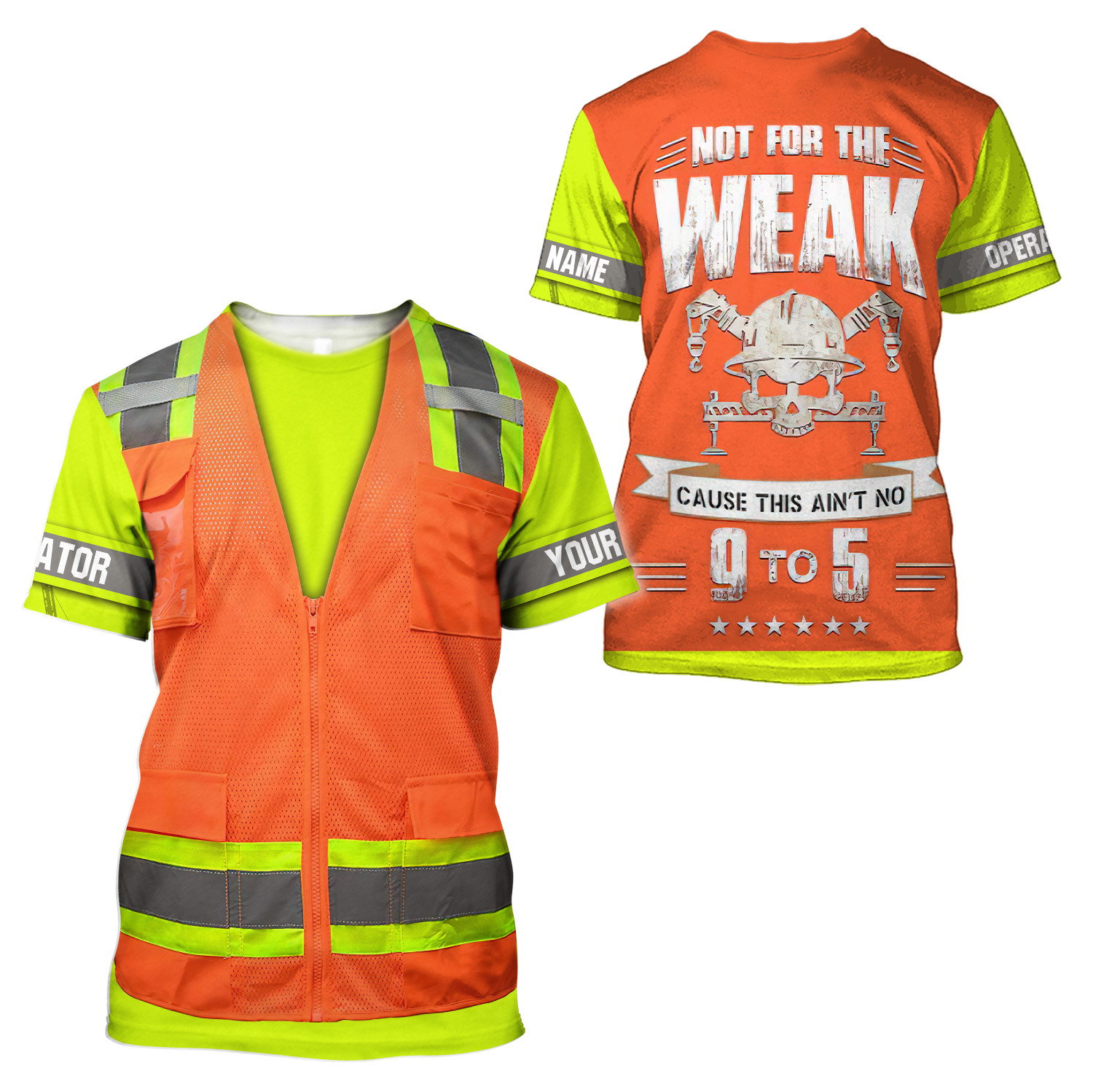 Customize Name Heavy Equipment Operator 3D All Over Printed Unisex Shirts - T-shirt / 3XL