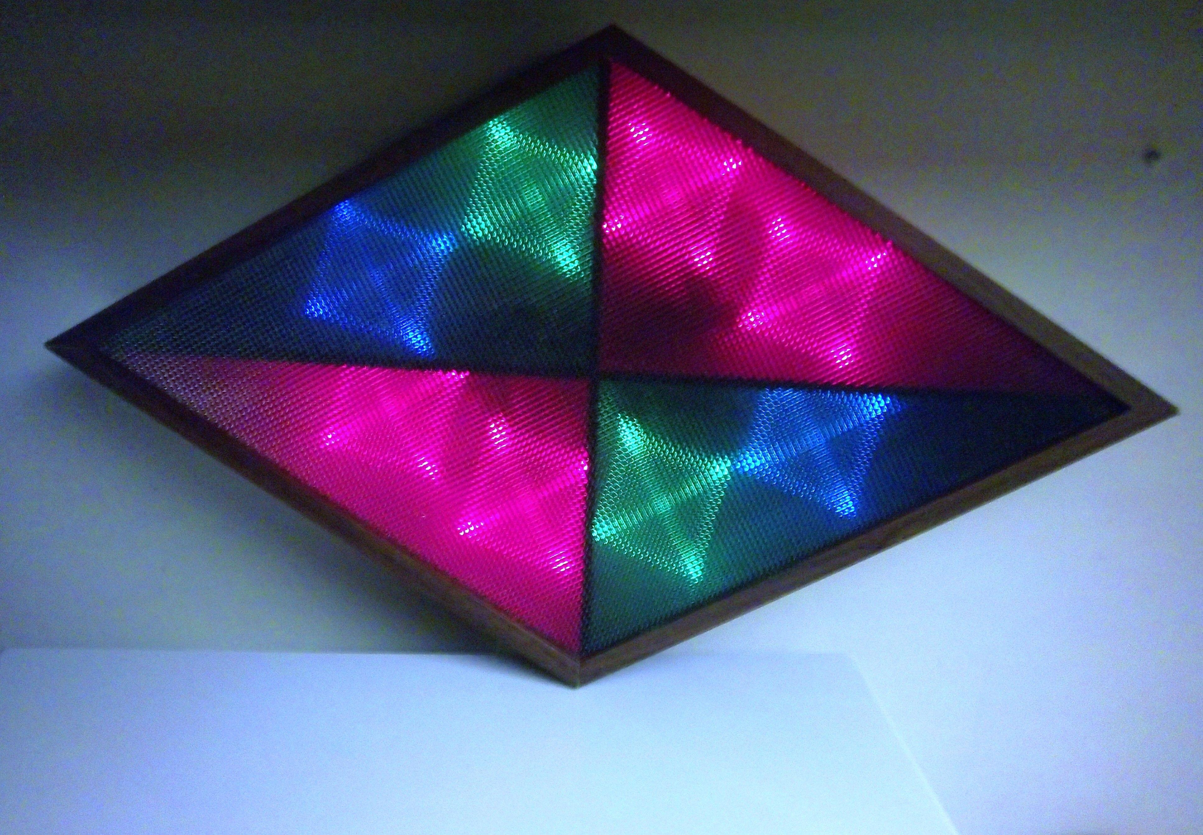 1970 S Diamond Disco Color Organ Light