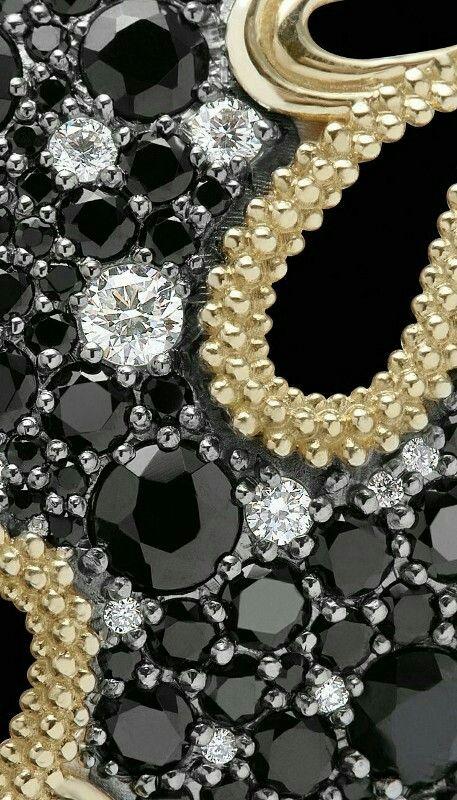 Black Gold Diamond Bejewled Phone Background Wallpaper