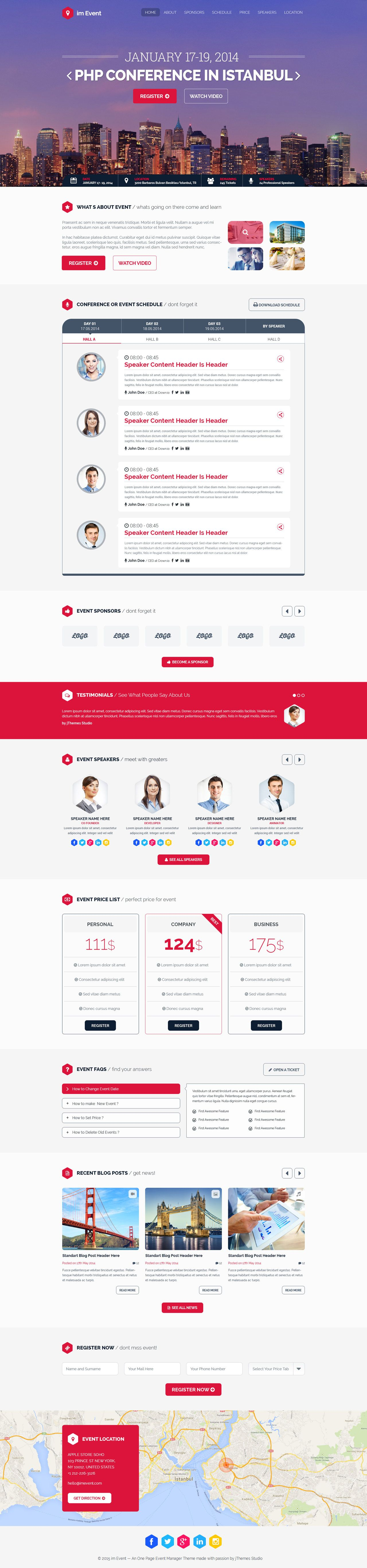 im Event\' is a specifically crafted HTML template to deliver a ...