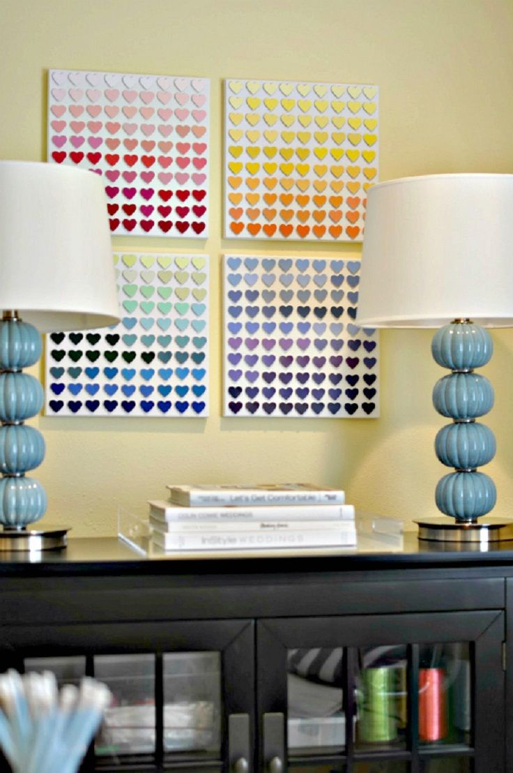 Top 10 Things to do With Paint Chip Samples | Paint chips, Junk ...