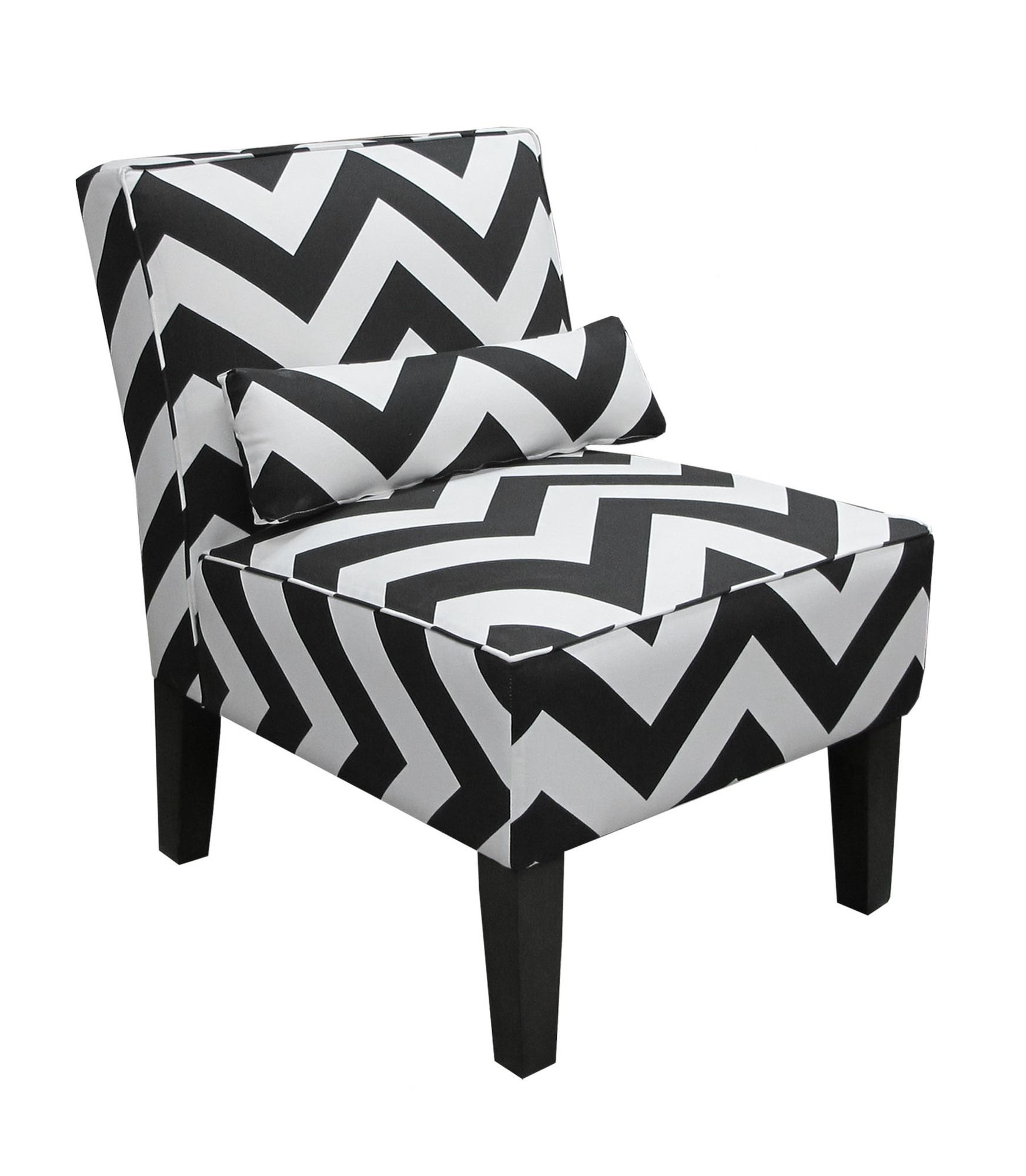 Missoni Style Print Accent Chair: Skyline Furniture Upholstered Armless Accent Chair. Like