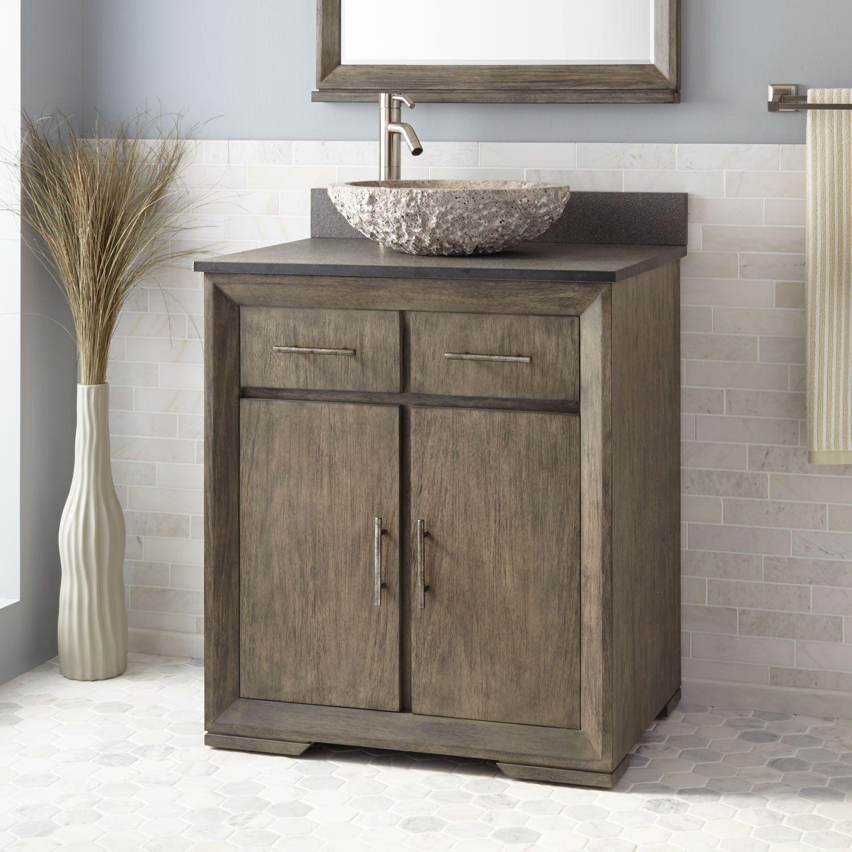 30 Davyn Mahogany Vessel Sink Vanity Gray Wash Vessel Sink Vanity Farmhouse Sink Vanity Vanity Sink