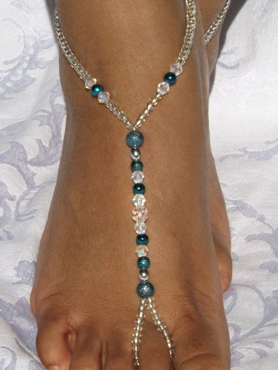 Jewelry & Watches Barefoot Sandals Bridal Foot Jewelry Beaded Beach Footless Anklet CF Fashion Jewelry