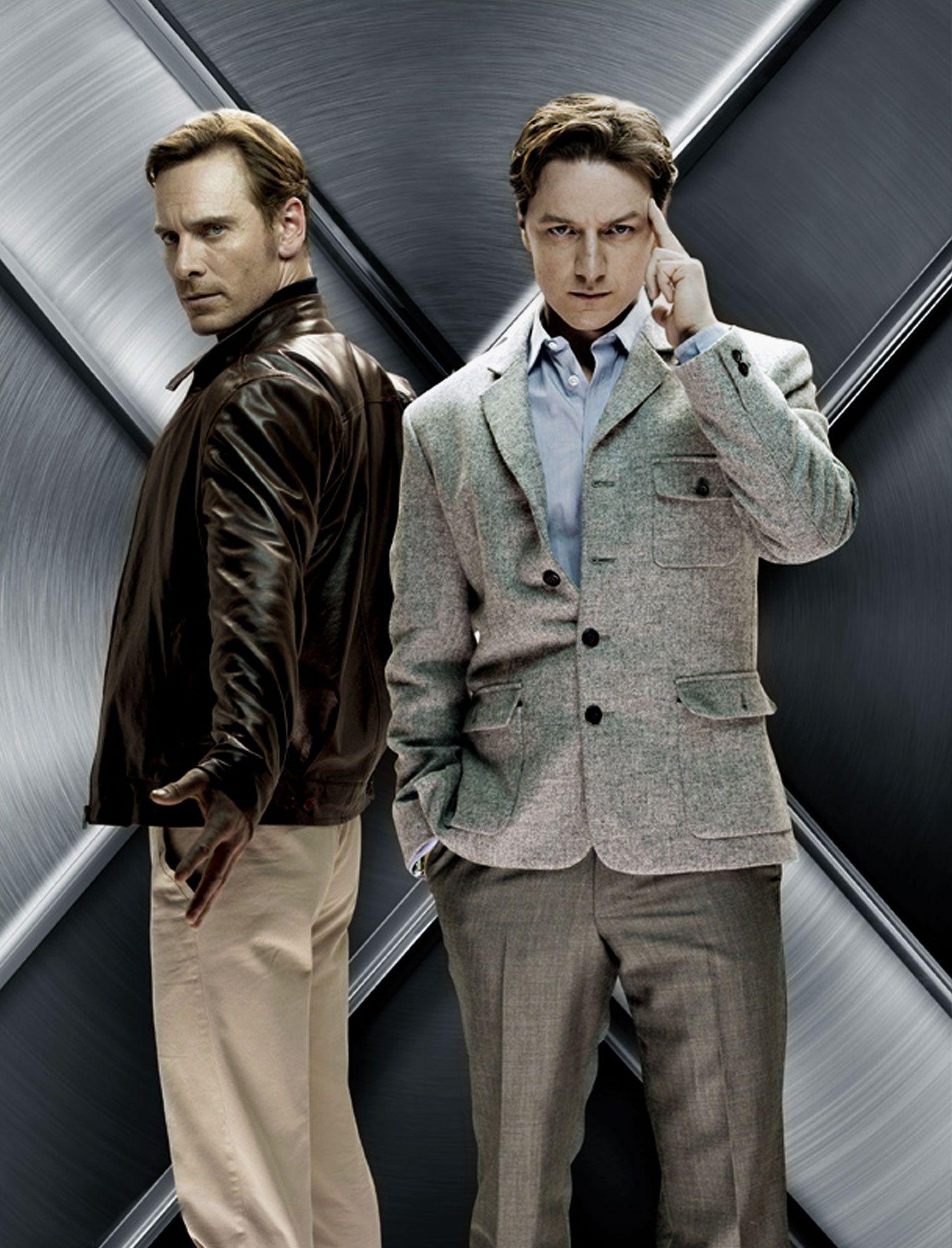 fbc86403e06 Charles Xavier (James McAvoy)   Erik Lehnsherr (Michael Fassbender ...
