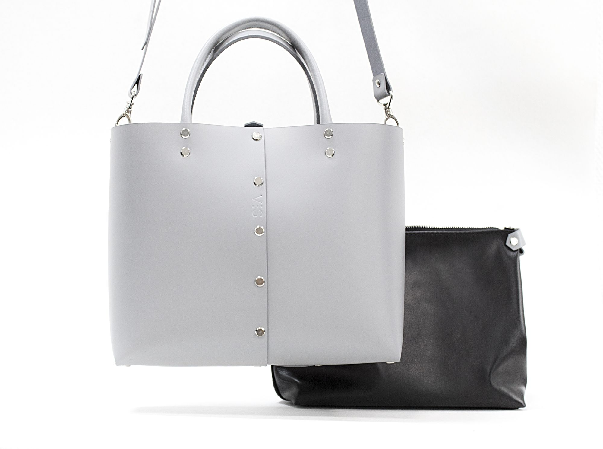 911dfd855767 Leather Tote Bag   VISLeatherBag  VIS Leather Bags   Totebags   Gray bag    Handmade Leather Bag